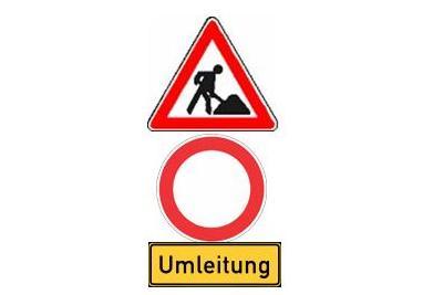 Baustelle: Straßensperrung zwischen Beidendorf und Krummesse